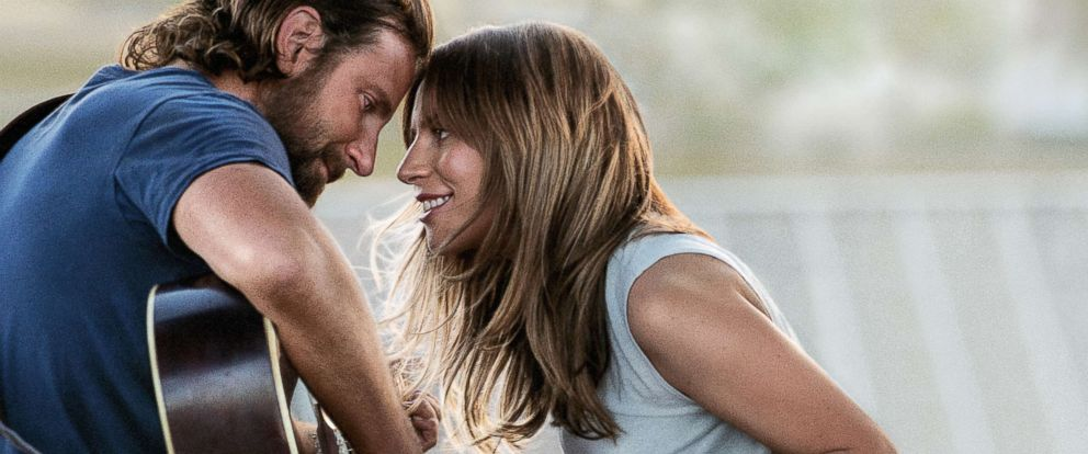 "PHOTO: Bradley Cooper and Lady Gaga in a scene from ""A Star is Born."""