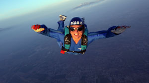 Bill Weir skydiving