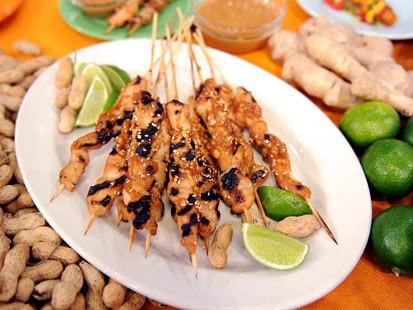 Chicken tender satay