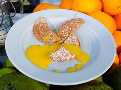 Marcus Samuelssons Spiced Chocolate Turnovers with Mango Sauce