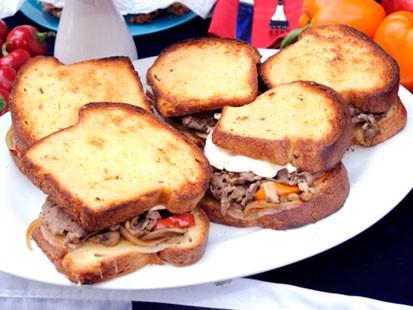 recipe: flank steak philly sandwich [31]