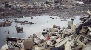 PHOTO: Electronic Junk from America finds its way to Africa.