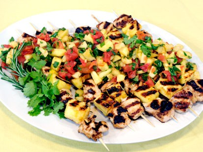 Grilled Chicken Kebobs