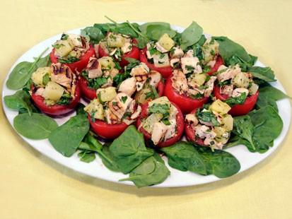 Diane Henderiks Tomatoes Stuffed With Hawaiian Chicken Salad