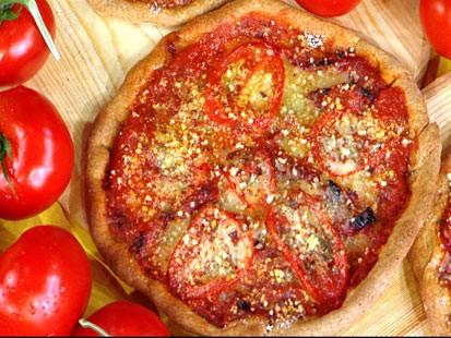 Whole Wheat Triple-Tomato Pizzas