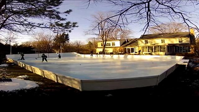 Man Builds Incredible Backyard Ice Rink Video - ABC News