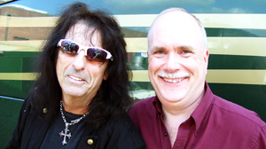 """PHOTO """"Pudgy"""" pastor Mark Wilkins, right, got to live out his dream of performing onstage with metal legend Alice Cooper"""