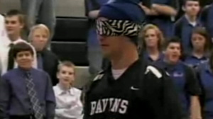 Kansas high school basketball coach Joel Branstrom visits the GMA studio