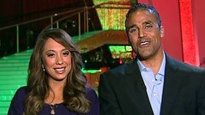 "PHOTO Cheryl Burke and Rick Fox speak about getting voted off ""Dancing with the Stars."""