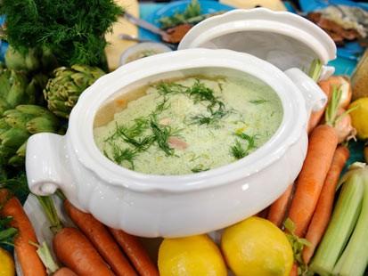 Whole Chicken Soup With Avgolemono & Orzo