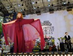 """PHOTO:Florence and the Machine performs at Central Park in New York as part of the """"Good Morning America"""" summer concert series, June 24, 2011."""