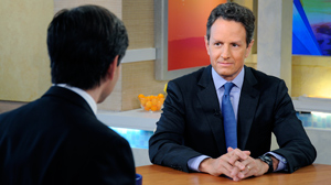 PHOTO Secretary of the Treasury Timothy Geithner on Gma