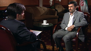 PHOTO Iranian President Mahmoud Ahmadinejad sat down with ABC News? George Stephanopoulos