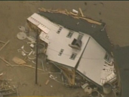 Home destroyed by hurricane Ike