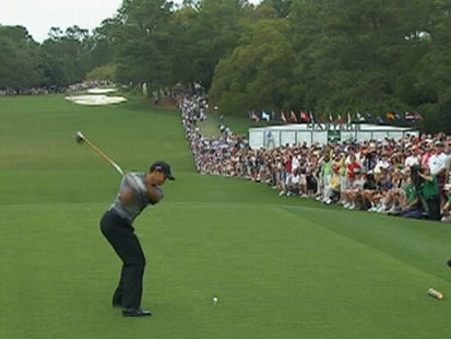 VIDEO: The golfer shoots his best opening round ever on the first day of the Masters.