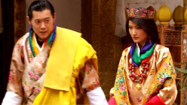 king of bhutan ties the knot video