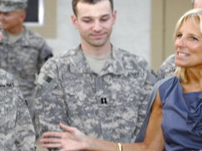 "VIDEO: Jill Biden teams up with ""Army Wives"" to raise awareness."