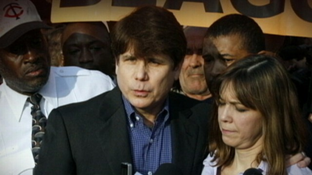 "VIDEO: Former Gov. ""Blago"" gives speech to a chanting crowd before going to prison."