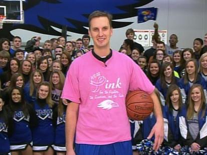 VIDEO: Amazing basketball shot earns high school coach NCAA championship tickets.
