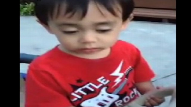 VIDEO: Little Boy Falls Asleep Driving Toy Truck