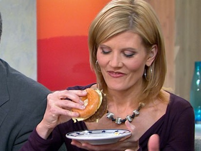 VIDEO: Bacon cheeseburger served on a Krispy Kreme donut bun is a junk foodies dream.