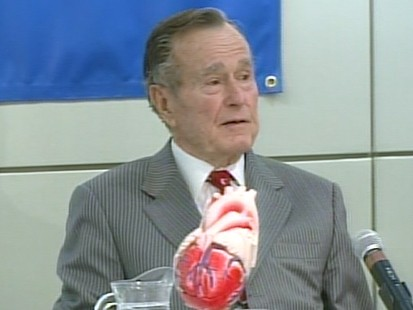 VIDEO: Former President Bush Chokes Up