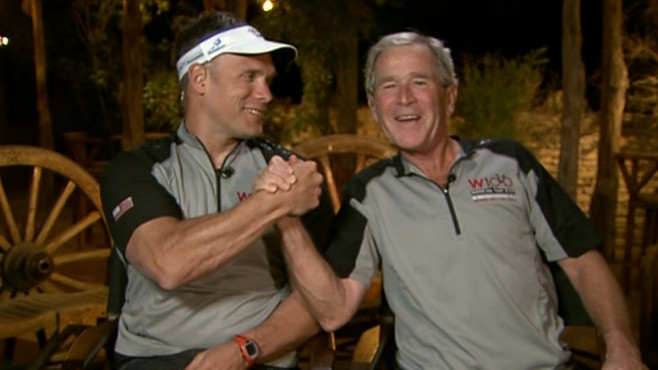 VIDEO: Former president talks to GMA about his three-day bike ride with service men.