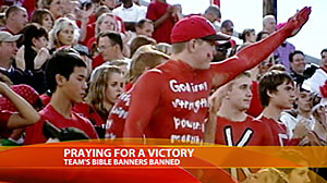 Photo: School Prohibits Religious Banners at Football Games: Students, Community Disappointed by Decision to Bar Biblical Signs at Games