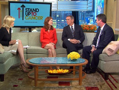 VIDEO: Charles Gibson and Dana Delany help with a telethon to raise money for cancer.
