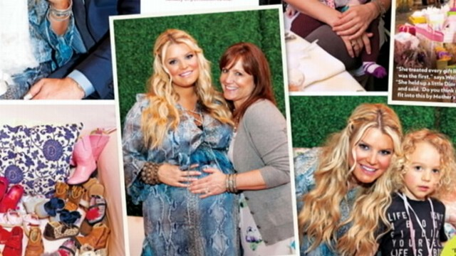 Jessica Simpsons Extreme Baby Shower Video Abc News