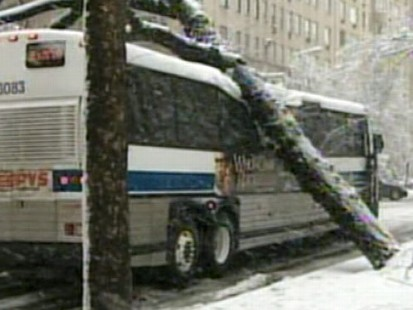 VIDEO: Sixth winter storm to hit the East Coast packs heavy wet snow and high winds.