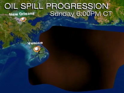 VIDEO: Massive oil slick threatens four Gulf States and miles of sensitive coast.