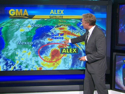 VIDEO: Tropical Storm Alex Strengthens