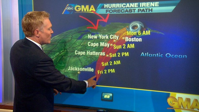 VIDEO: Sam Champion tracks the storms path as it heads up the East Coast.