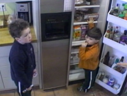VIDEO: Surveillance cameras capture one familys high caloric intake.