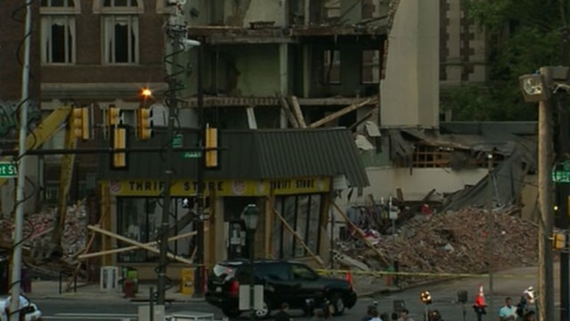 VIDEO: Six people were killed when a building in Philadelphia collapsed.