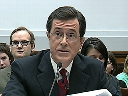 VIDEO: Some are criticizing Stephen Colberts Capitol Hill testimony on immigration.
