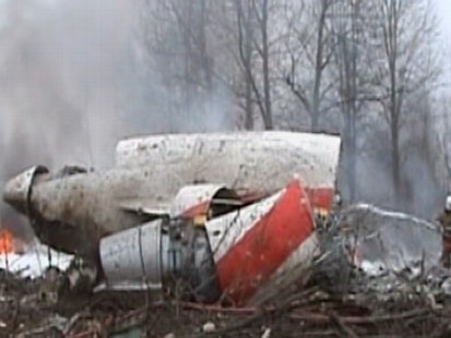 VIDEO: Plane Carrying Polish President Crashes