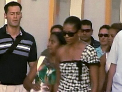 VIDEO: The first lady and her daughter visit Marbella, Granada and royal family.