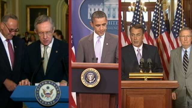 VIDEO: Congressional leaders caucus their parties after reaching deal with White House.