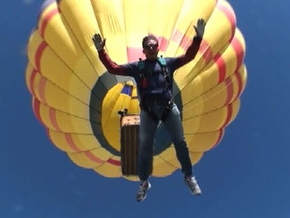 VIDEO: Bill Weir lives his dream of skydiving from a hot air balloon.