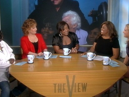 "VIDEO: The ""Living the Dream"" winner takes her place at ""The View"" table."