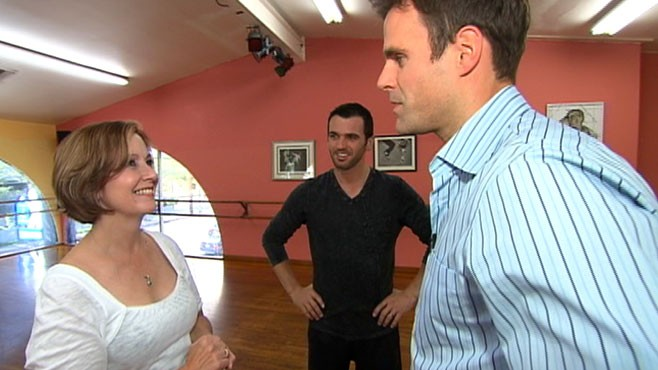 "VIDEO: Cameron Mathison tells Gail Sylva how nervous he was on ""Dancing With the Stars."""
