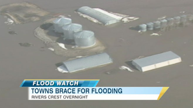 VIDEO: Officials are cautious as rivers rise toward dangerous levels.