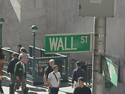 VIDEO: The street sign on Wall Street.