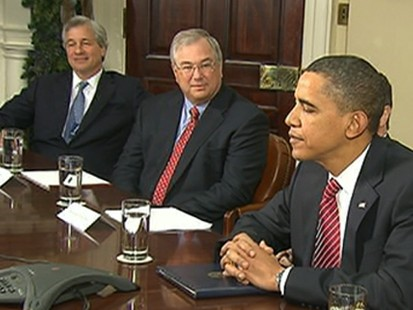 VIDEO: The president asks the nations largest banks to do more for citizens.