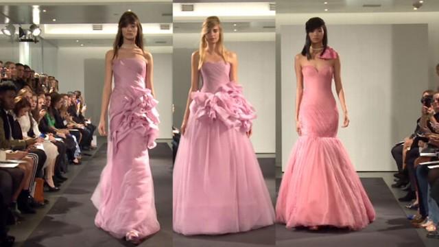 Vera Wang Shocks Bridal Fashion Week With All-Pink Collection