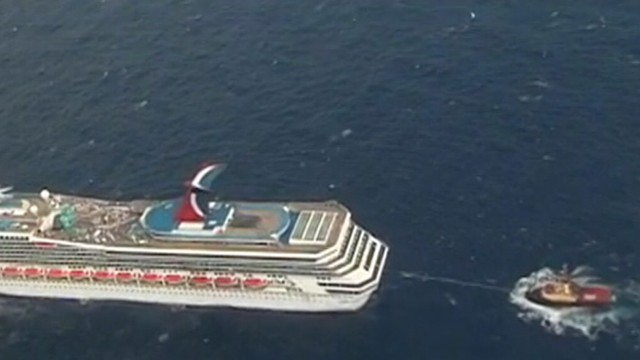 Stranded Carnival Cruise Ship On Its Way To Port After Losing - Stranded cruise ship