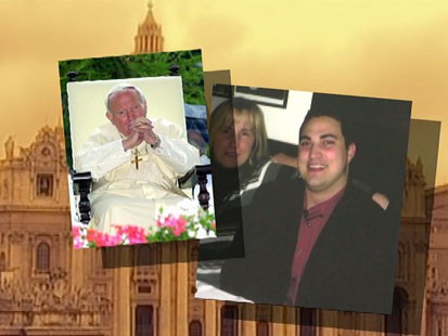 VIDEO: One man accredits former Pope John Paul II with performing a miracle.