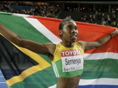 VIDEO: SAfrican Runner Wins 800 Despite Gender Questions